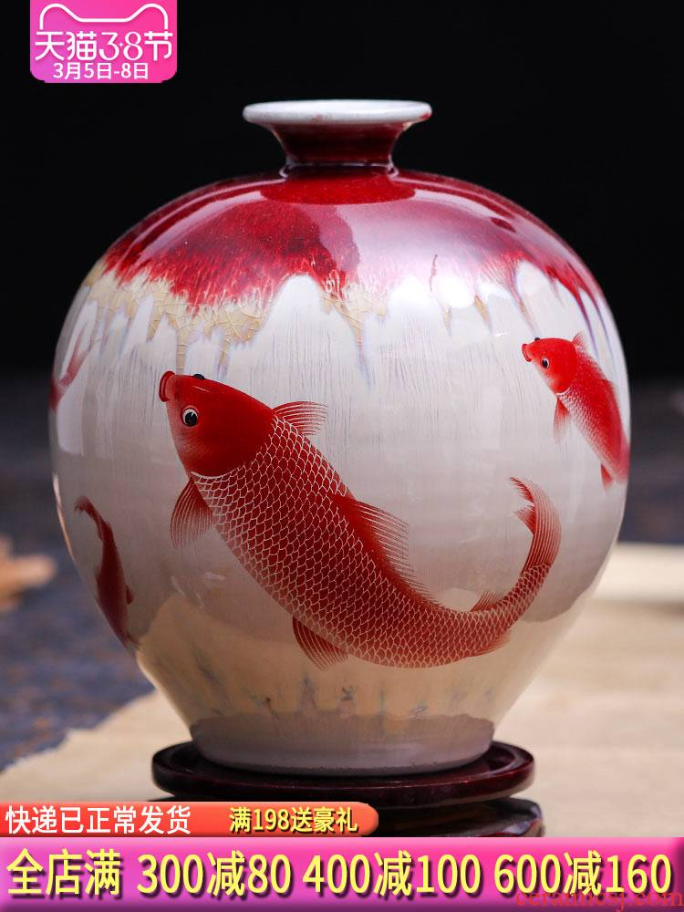 Archaize of jingdezhen ceramics up borneol crackle vases, flower arranging new classical Chinese style home furnishing articles