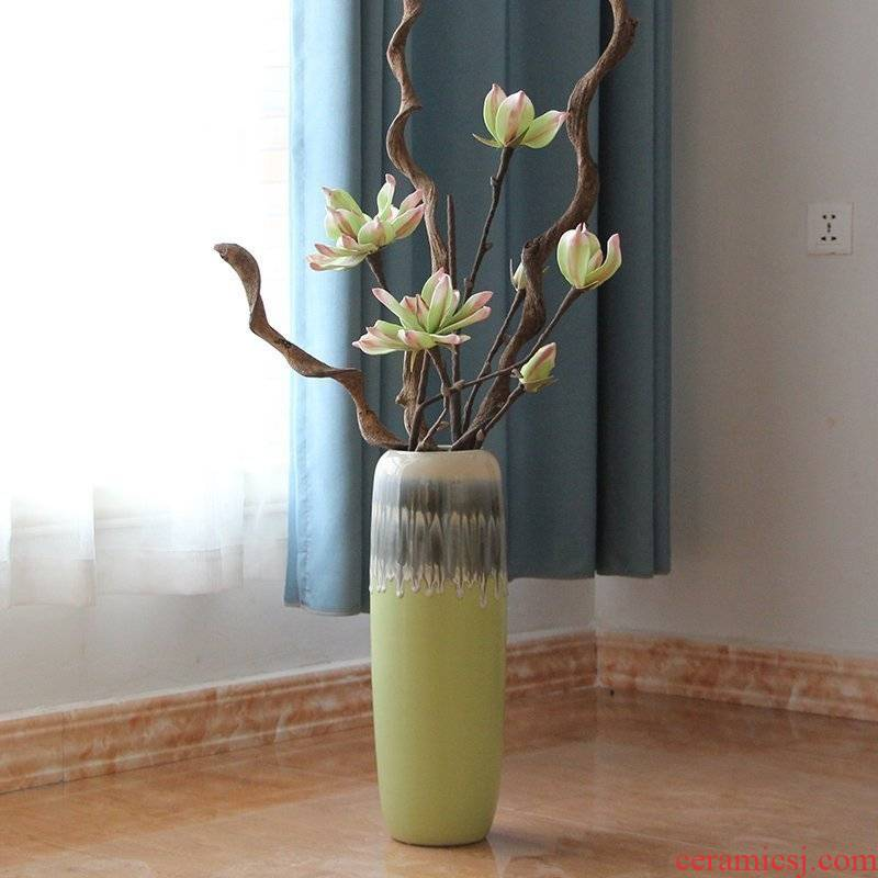 I and contracted Europe type of jingdezhen ceramics sitting room ground flower color glaze up vase decoration furnishing articles