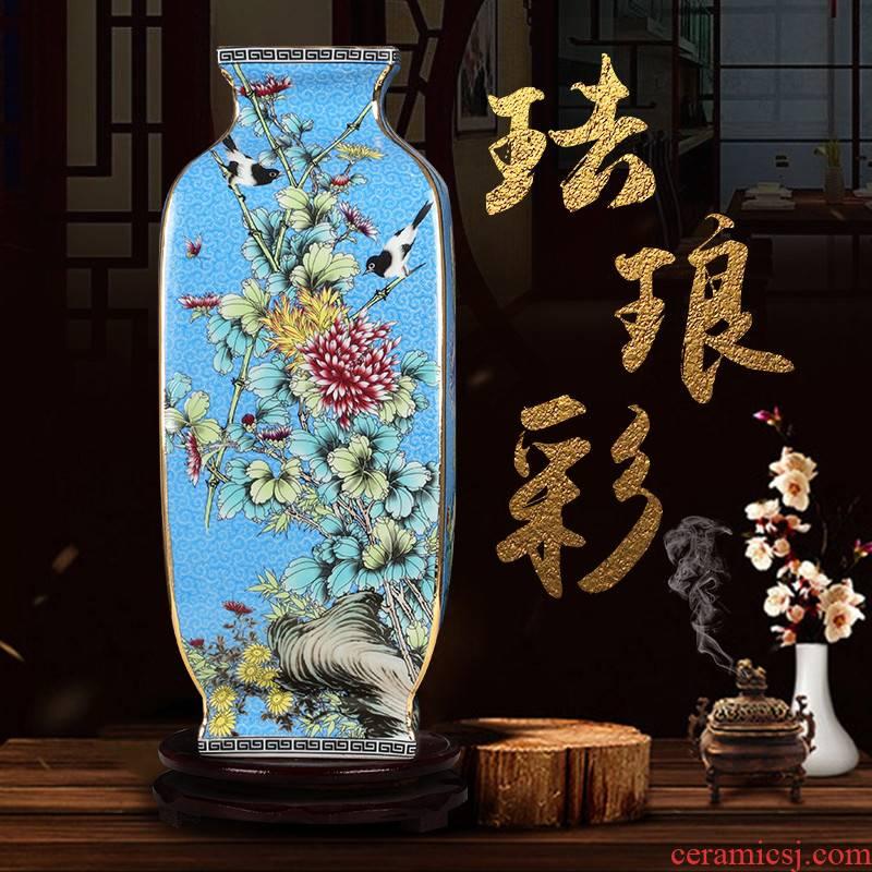 Porcelain of jingdezhen ceramics vase furnishing articles imitation qianlong antique Chinese style classical wine sitting room adornment ornament