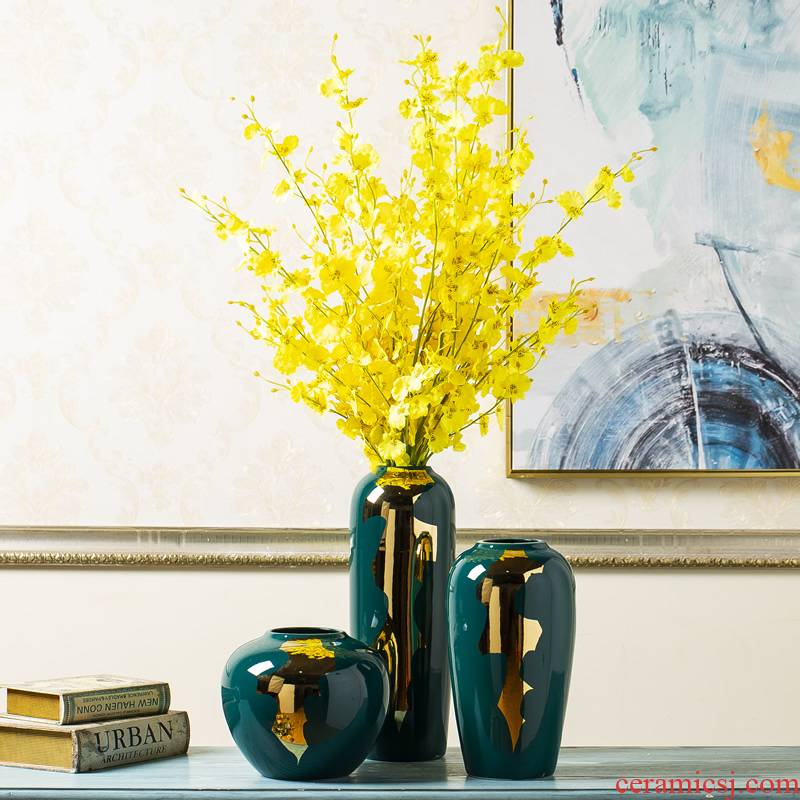 Jingdezhen Nordic light much I and contracted ceramic vases, furnishing articles new Chinese dried flowers flower arrangement sitting room adornment