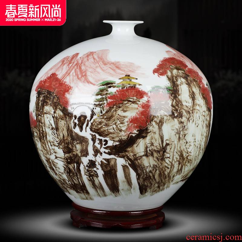 Chinese ceramics glair craft vase famous works in the home club mesa adornment furnishing articles