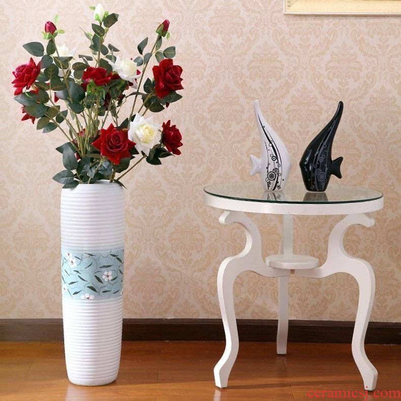 Jingdezhen ceramic vase I sitting room be born lucky bamboo vase porch decorate furnishing articles bedroom soft outfit