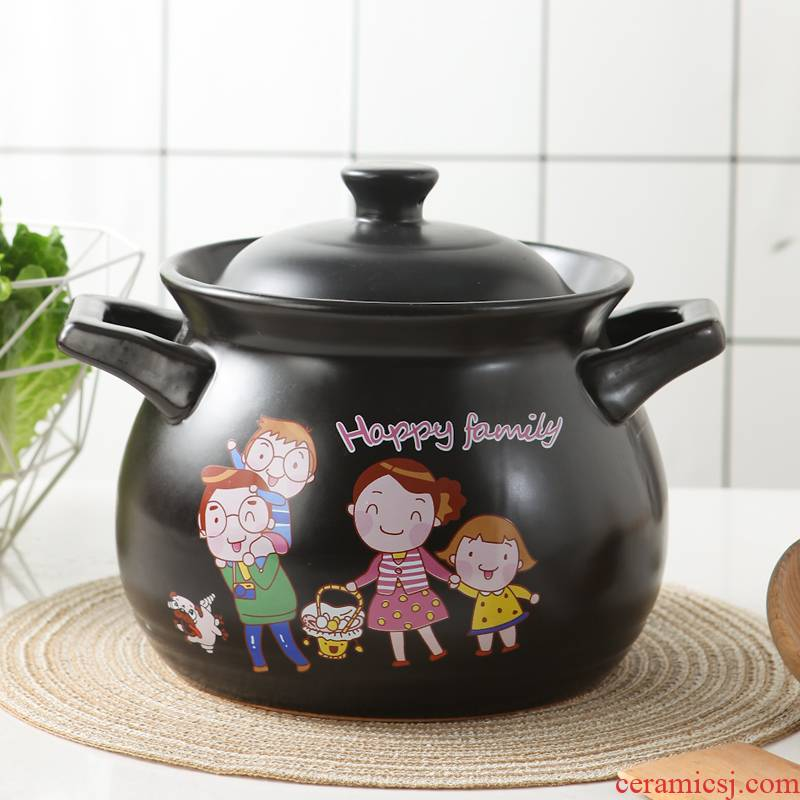 Clay sand pot stew high - temperature ceramic crock soup boil small casserole household flame gas simmering large