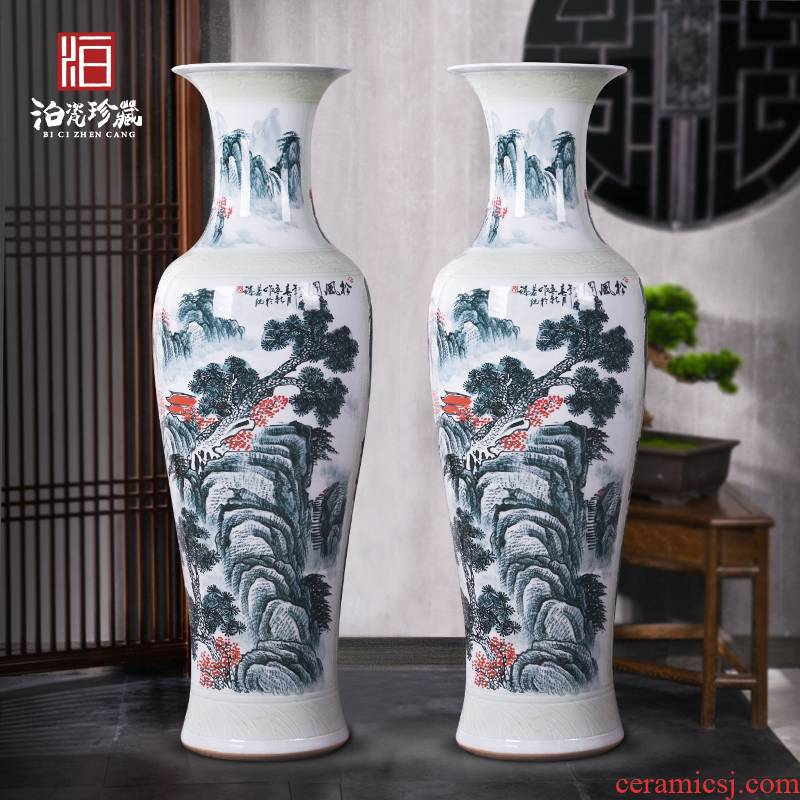 Jingdezhen ceramics of large vases, new Chinese style villa hotel hall, opening the custom office decoration