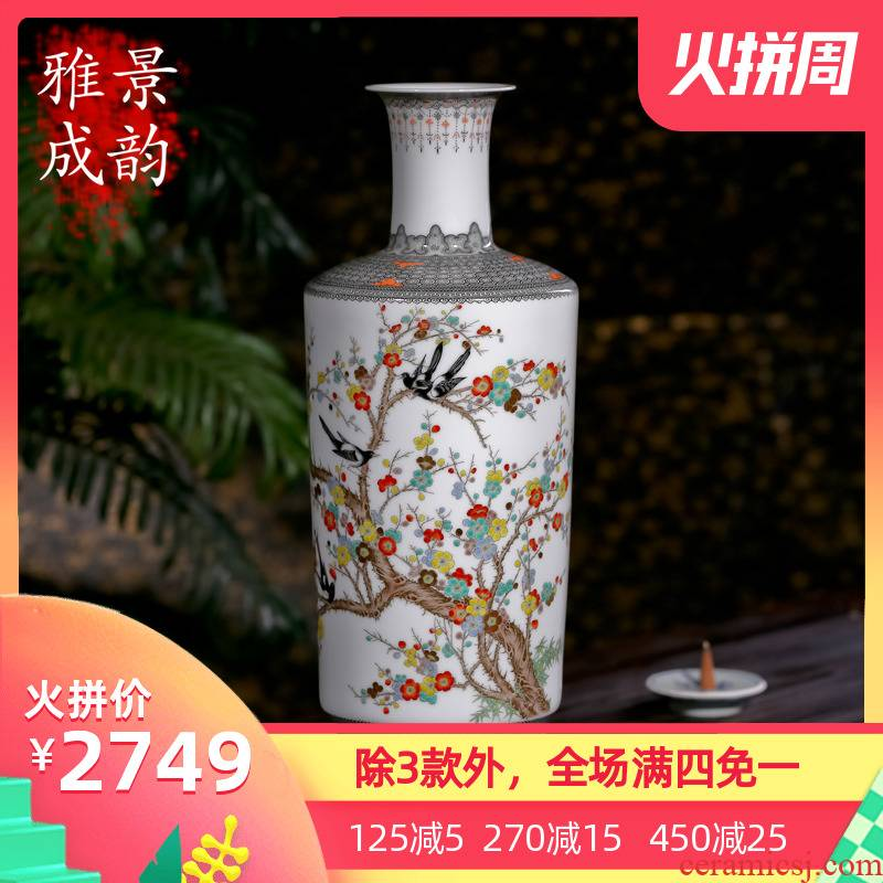 Jingdezhen ceramics pay-per-tweet vase famous hand - made craft vase sitting room home furnishing articles restoring ancient ways