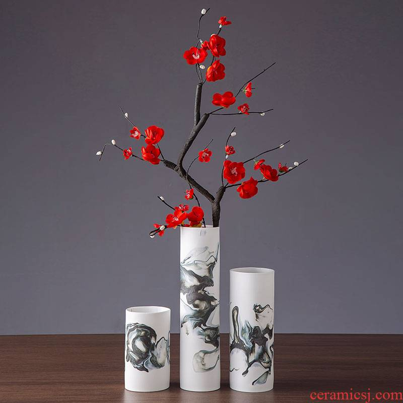 Jingdezhen ceramic vase household living room TV cabinet of new Chinese style furnishing articles creative I and contracted table decorations