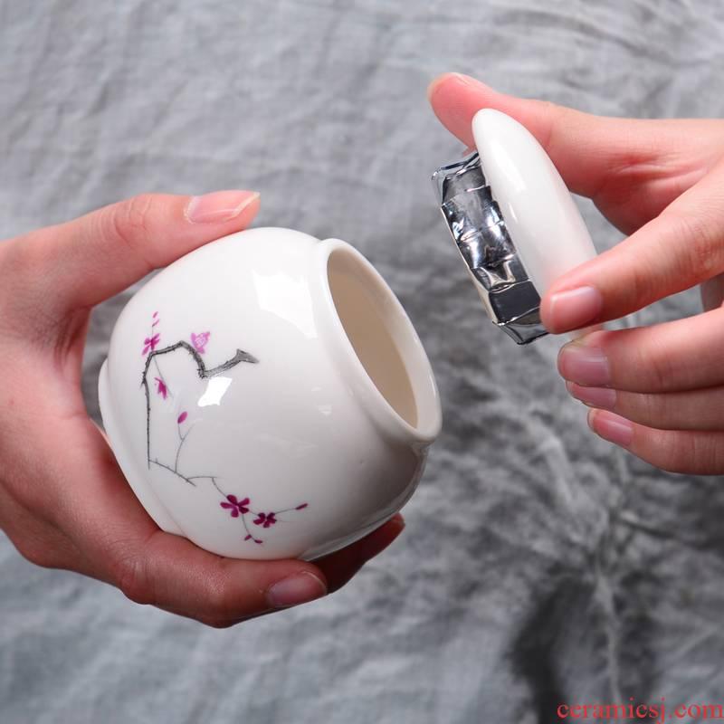 Office ceramic tea pot mini small wholesale custom gift boxes gift pu 'er tea sealed storage tanks