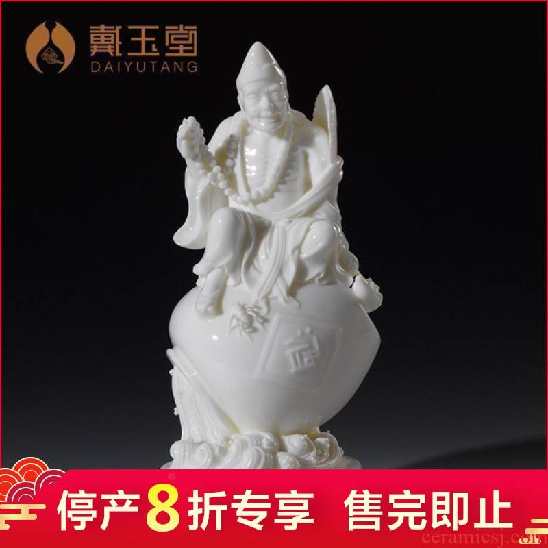 White marble production is pulled from the shelves 】 【 porcelain/9 inches unfortunately living Buddha