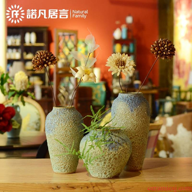 Jingdezhen 's every creative floral outraged flower vases, ceramic household act the role ofing is tasted furnishing articles sitting room housewarming gift simulation flowers