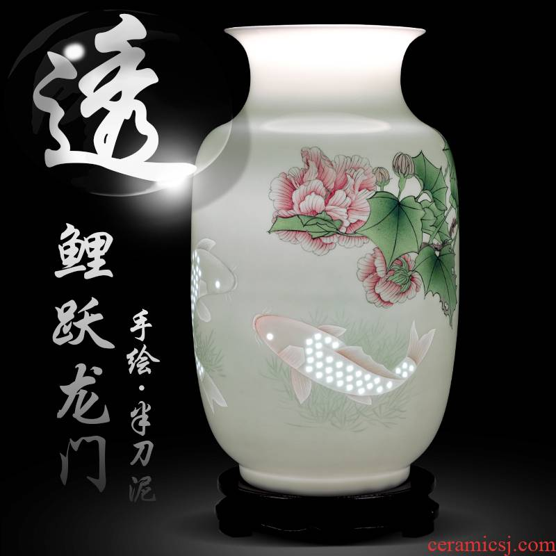 Jingdezhen ceramics hand - made fish of new Chinese style household knife clay flower arrangement sitting room adornment handicraft collection furnishing articles