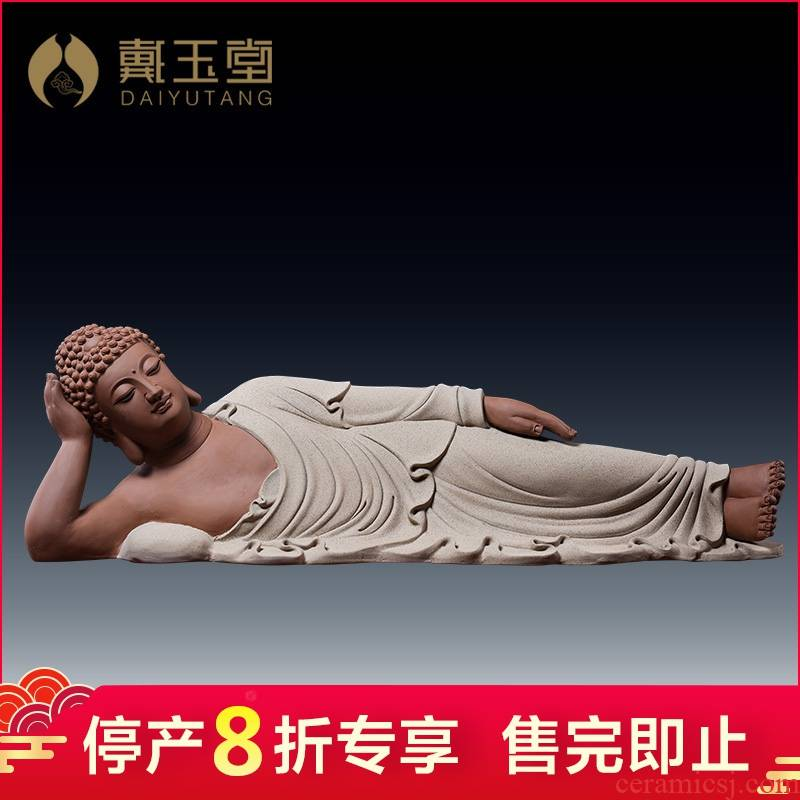Production is the shelves 】 【 Buddha ceramics handicraft of Buddha furnishing articles furnishing articles porcelain carving/sleeping Buddha