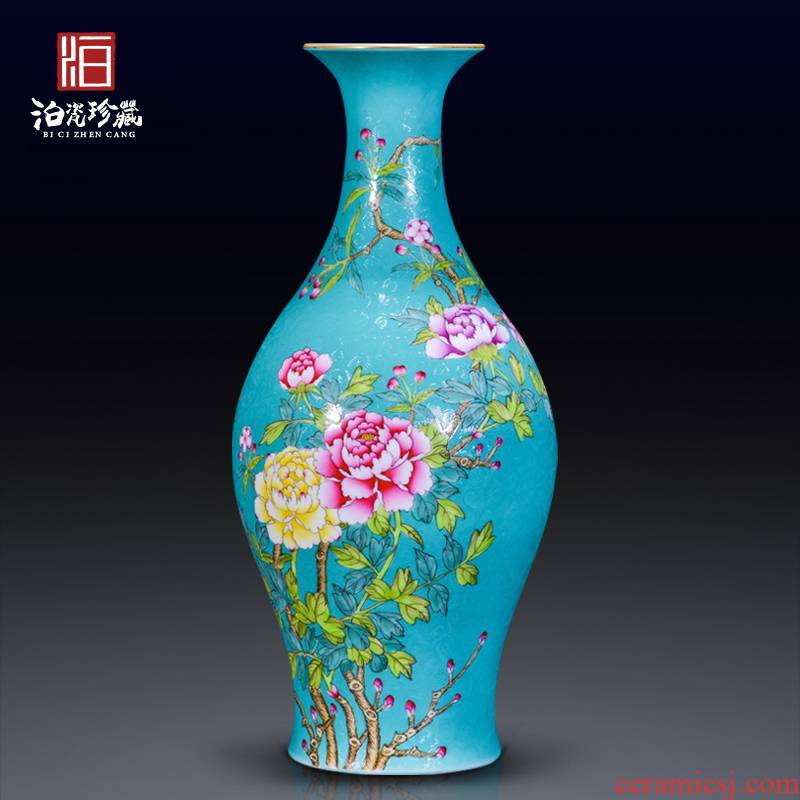 Jingdezhen ceramics green pastel steak olive bottle of flower arranging flowers blooming flowers vase home sitting room adornment is placed