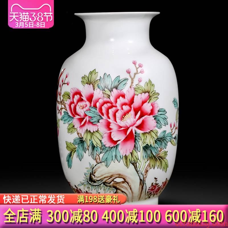 The Master of jingdezhen ceramics hand - made pastel vases, flower arranging flowers prosperous Chinese sitting room ark, furnishing articles