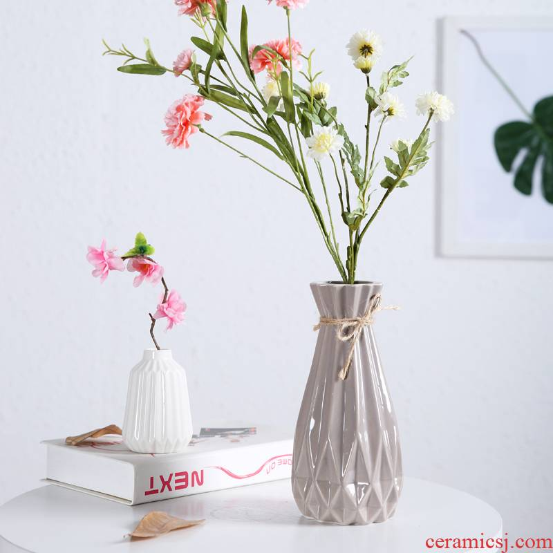 White porcelain vase pure White contracted Europe type small pure and fresh and all over the sky star, dried flowers, Japanese ceramic vase ikea sitting room