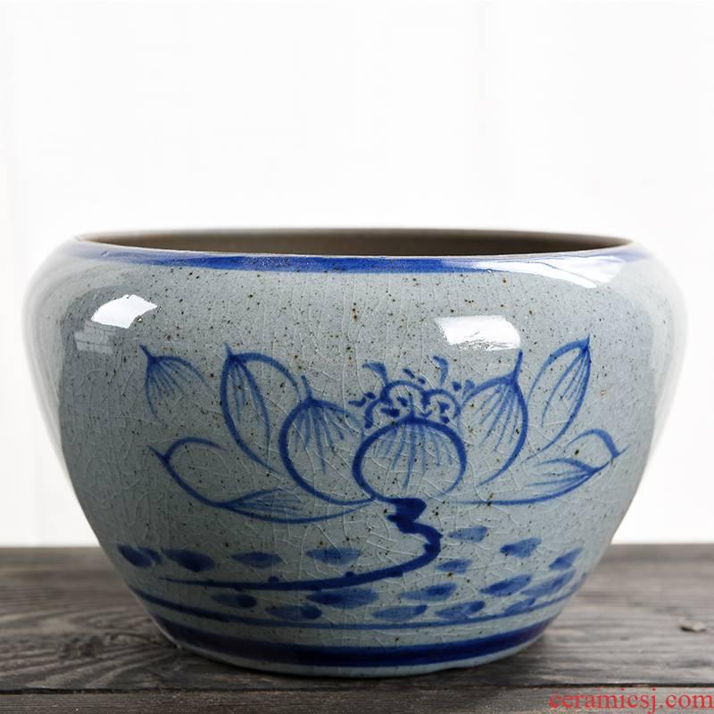 Celadon pot ceramic creative household bonsai pot money plant bracketplant heavy large green plant contracted fleshy flower pot