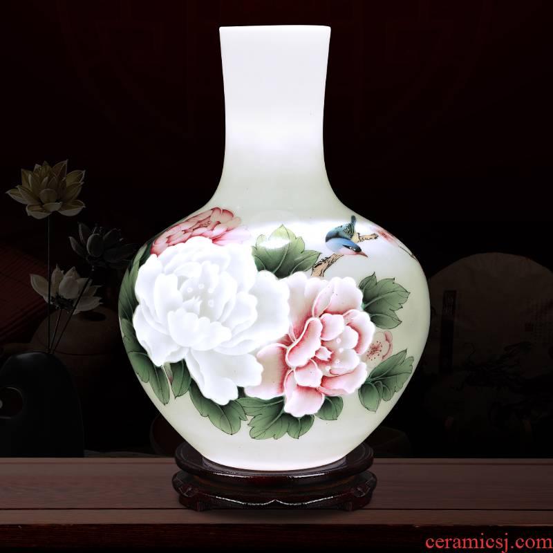 Creative thin foetus and exquisite porcelain jingdezhen ceramics astronomical spring brightness vase furnishing articles flower arranging hand - made ornaments