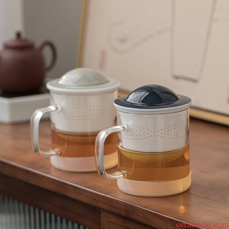 Porcelain constant hall mark cup with cover glass filter large capacity cup one creative move ceramic cup