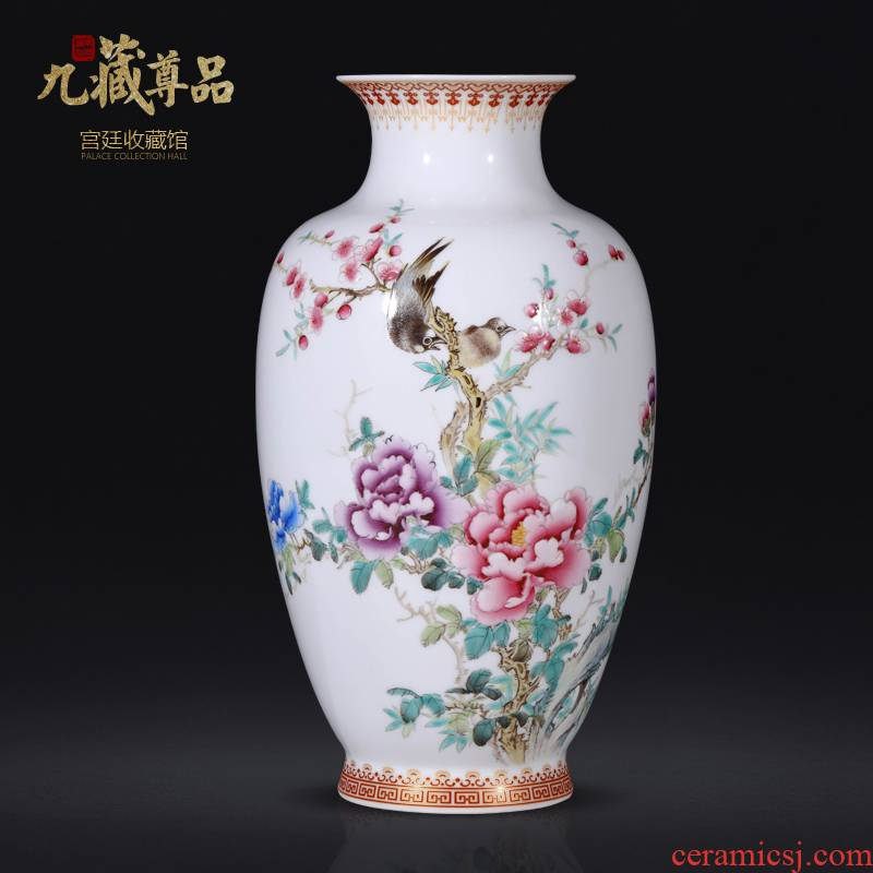 The Master of jingdezhen ceramics hand - made blooming flowers bottles of Chinese style living room TV ark, flower arranging porch is decorated furnishing articles
