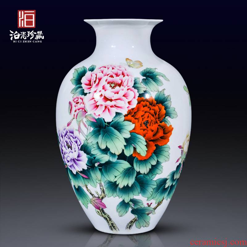 Jingdezhen ceramics hand - made ceramic vases, flower arranging the sitting room the bedroom decorate new Chinese style wedding handicraft furnishing articles