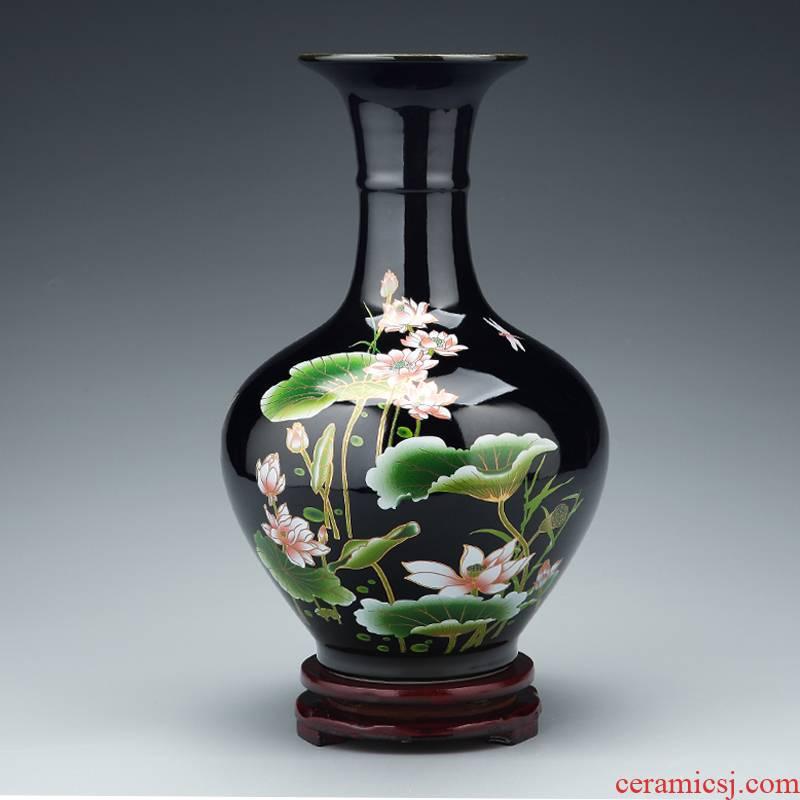 Jingdezhen ceramics large vase furnishing articles sitting room flower arranging Chinese style household porcelain of TV ark, wine accessories