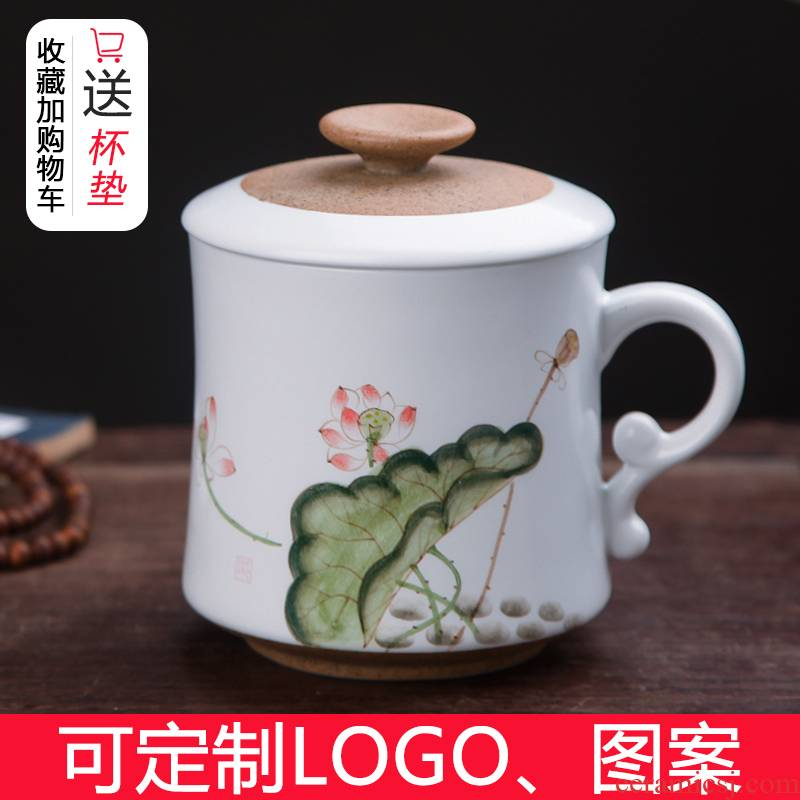 Hand - made ceramic cups restoring ancient ways is a single filter with cover glass huai home tea cup keller of jingdezhen