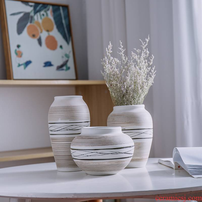 The Vase TV ark, furnishing articles home decor I and contracted sitting room coarse pottery handicraft decoration by hand