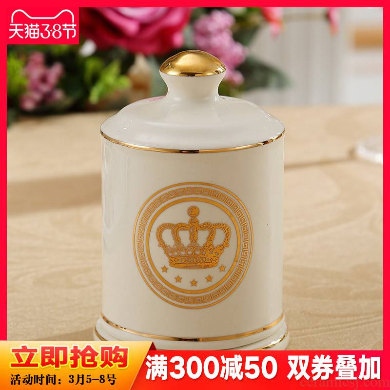 Jane 's ceramic toothpicks extinguishers European - style toothpick box of creative fashion sitting room tea table receive pot dining tables and toothpicks
