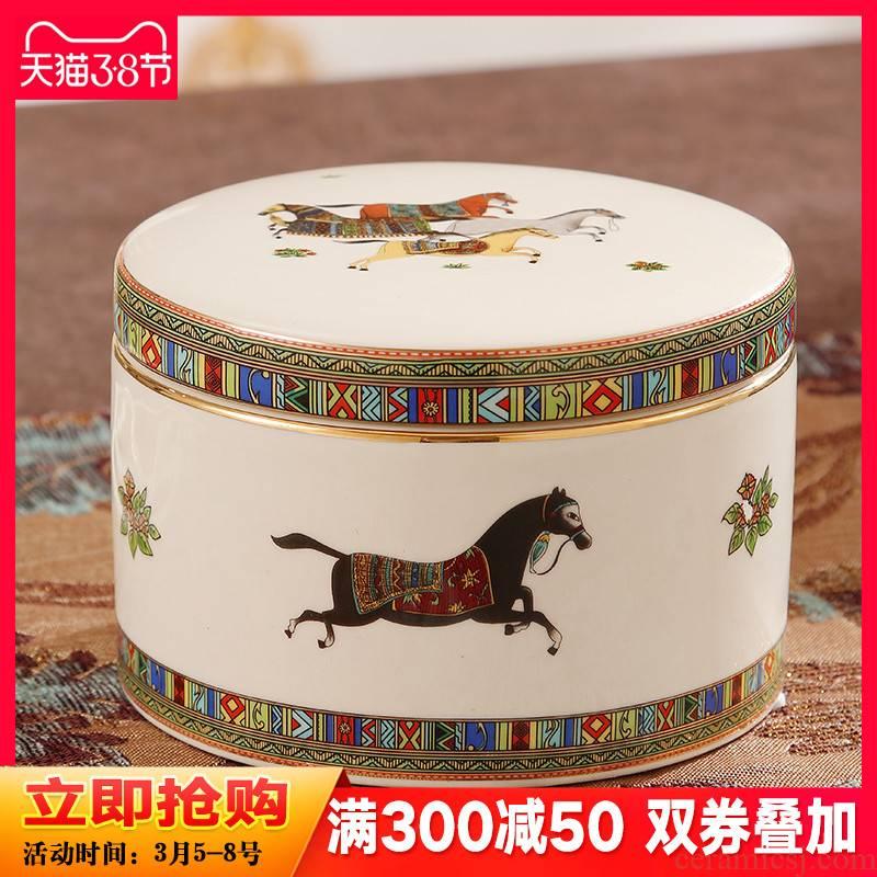 Marten shengshi creative storage tank European jewelry box moistureproof the receive ceramic pot home furnishing articles