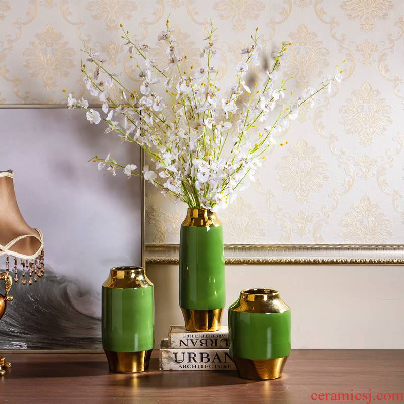 I and contracted light key-2 luxury ceramic vase hydroponic dry flower vase Nordic living room table home furnishing articles