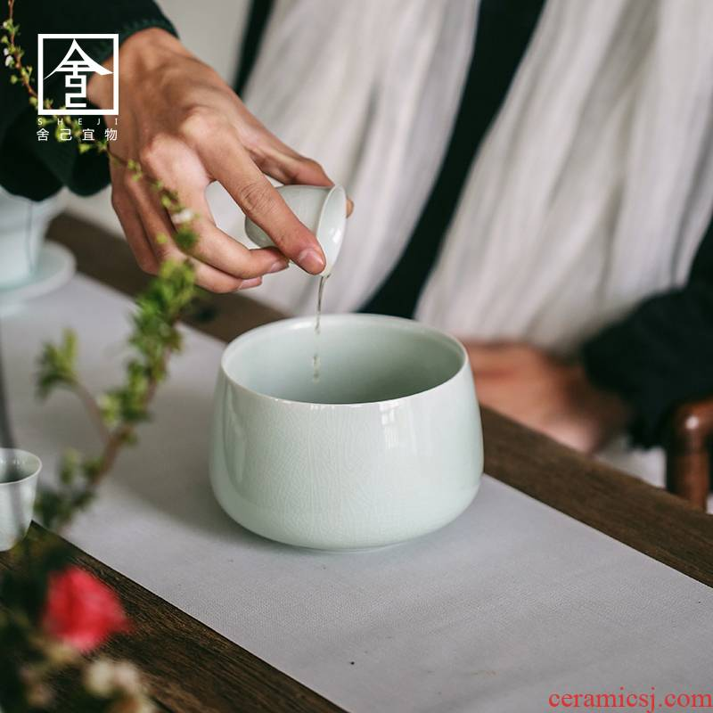 """The Self - """"appropriate content left up tea tea to wash to wash water, after the small ceramic household Japanese cup hot wash bucket tea accessories"""