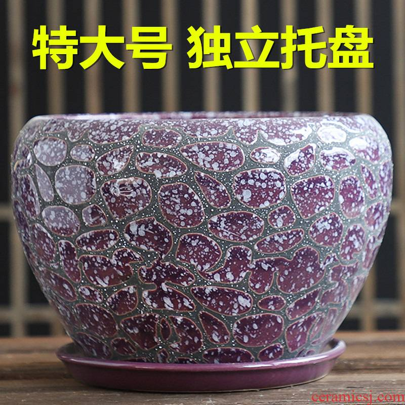 Nordic contracted large flower pot ceramics with tray ideas to sell butterfly orchid orchid money plant green plant fleshy flower pot