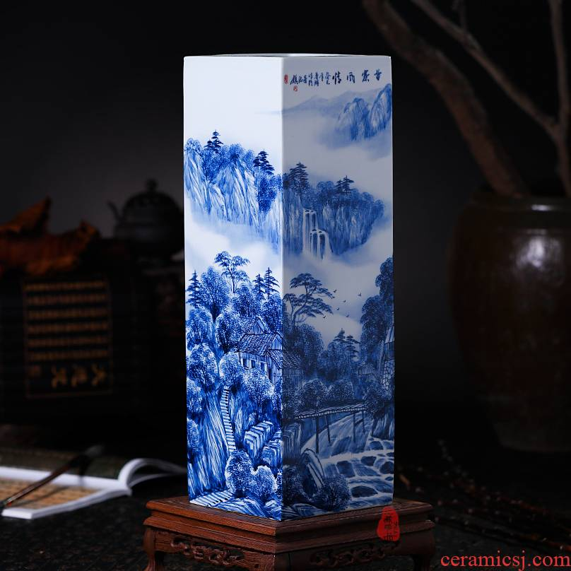 Famous master hand draw the miao customs jingdezhen ceramics vase quiver flower painting and calligraphy calligraphy and painting study furnishing articles