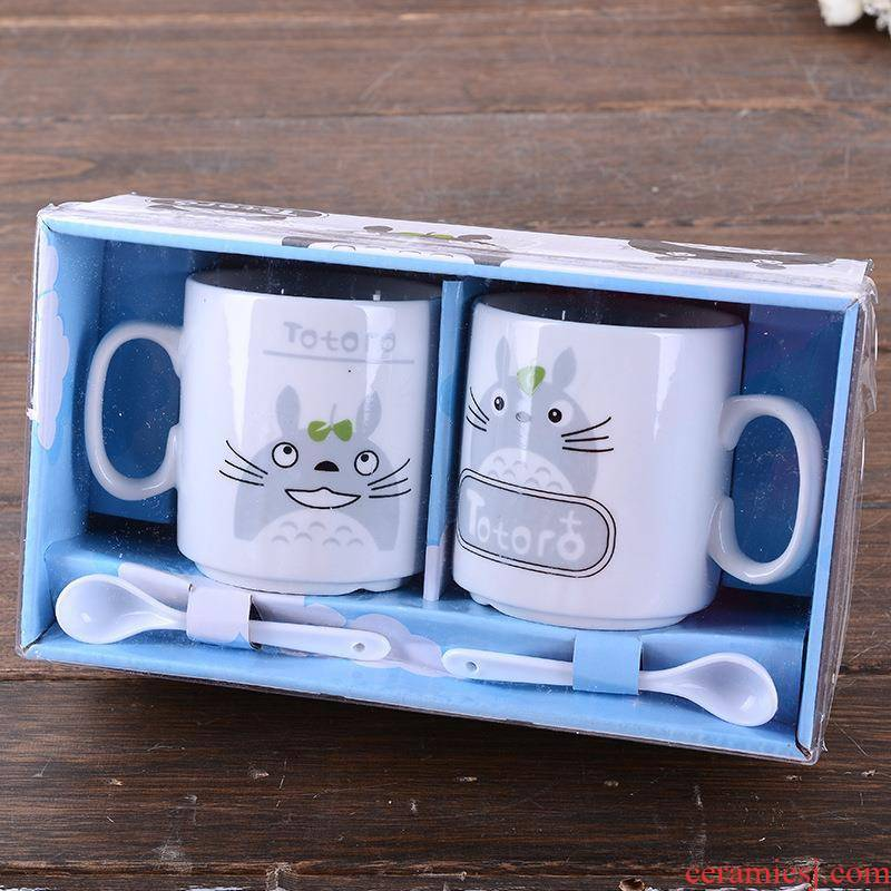 Creative ceramics to cup cartoon cat set cup daily ultimately responds cup keller cup couples home office got connected