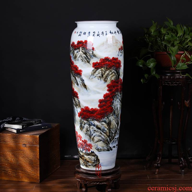 Hand - made youligong landscape idea gourd bottle of jingdezhen ceramics Chinese style living room villa clubhouse interior furnishing articles arranging flowers