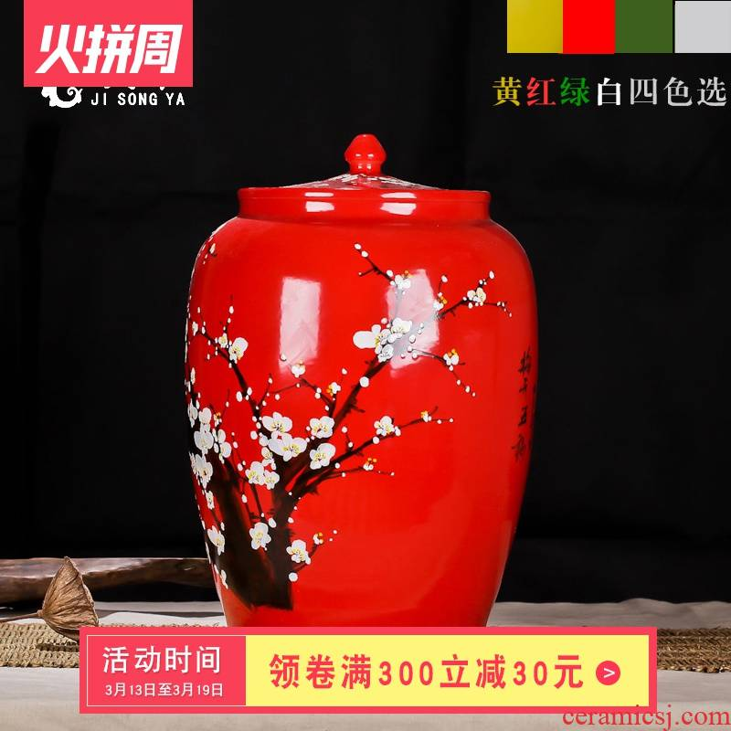 Ricer box store meter box 25 kg kitchen receive coarse grain food storage tank can of jingdezhen ceramic barrel of flour box