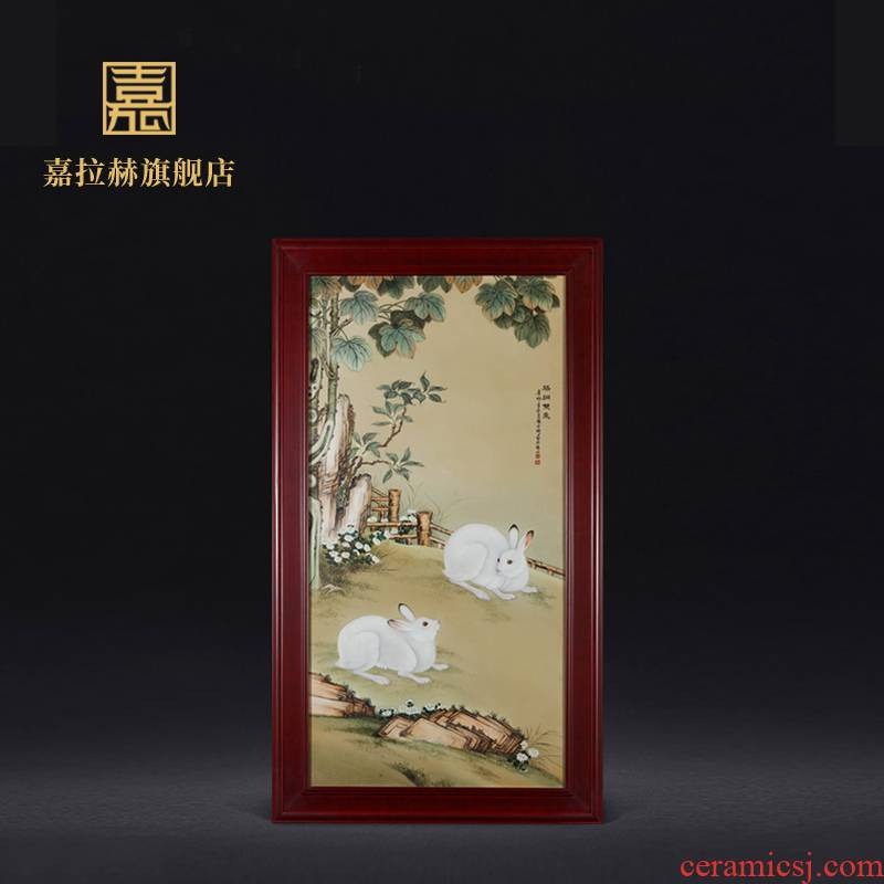 Jia lage porcelain plate painter jingdezhen hand - made archaize to hang in the living room sofa setting wall porcelain plate painting ceramics