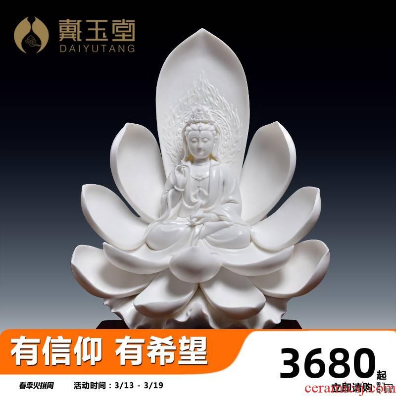 Yutang dai household ceramics guanyin bodhisattva tathagata earth treasure of Buddha furnishing articles/western three holy dance holy