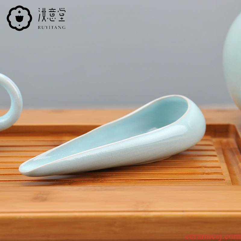 Your up porcelain ceramic tea tea holder is kung fu tea accessories zen tea tea holder tea tea spoon teaspoon points shovel