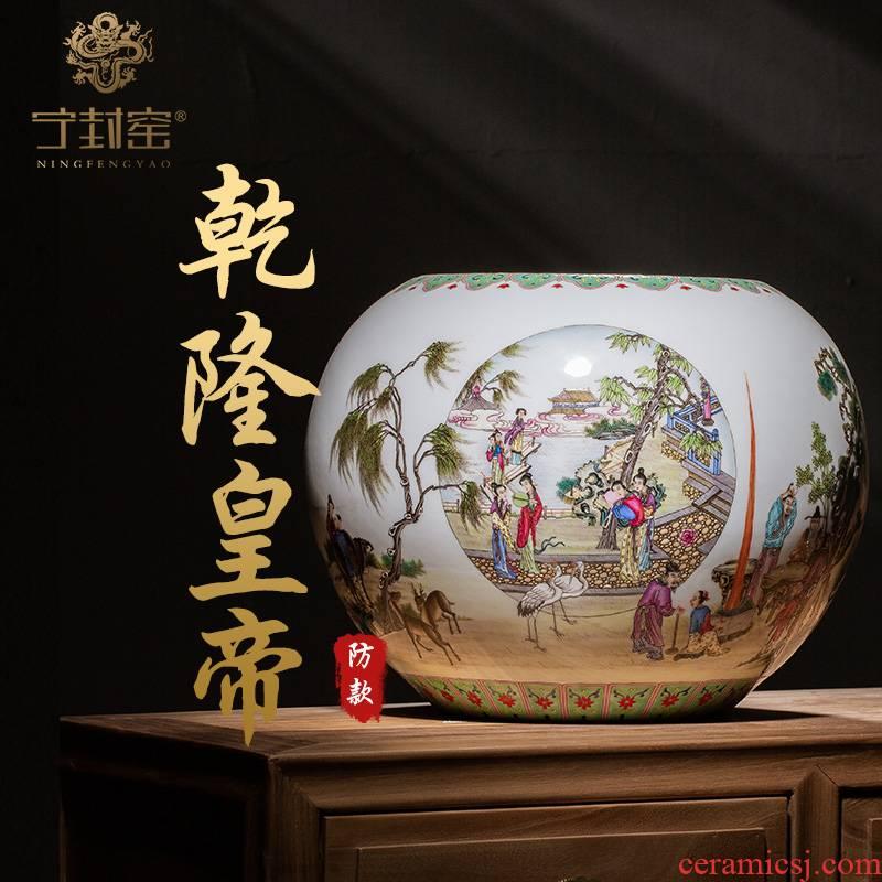 Ning hand - made antique vase seal up with jingdezhen ceramic bottle vase furnishing articles sitting room story lines washing powder enamel characters