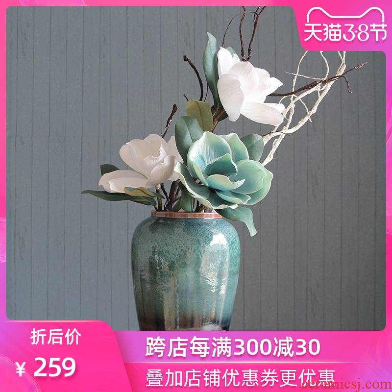 European beauty surrounds us modern Mediterranean home furnishing articles jingdezhen glaze ceramics vase and sitting room cabinet act the role ofing is tasted