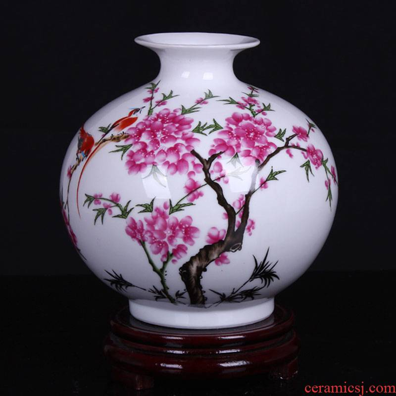Jingdezhen porcelain floret bottle furnishing articles ceramic I and contracted sitting room table, TV ark, adornment pomegranate bottle arranging flowers