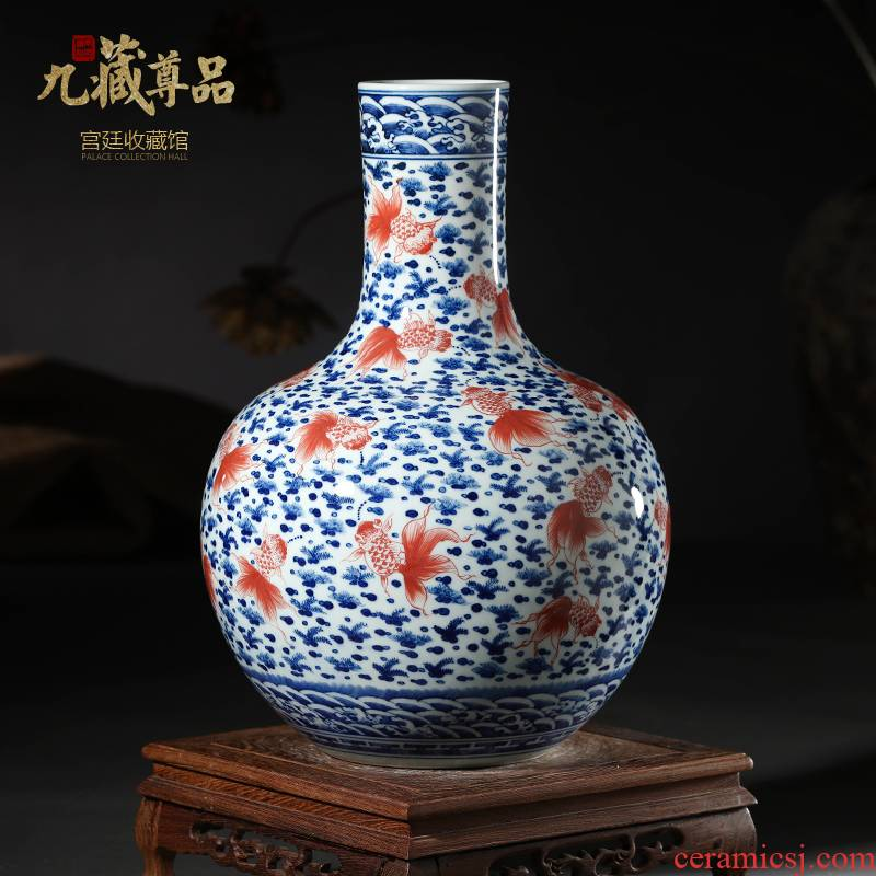 Antique hand - made porcelain youligong tree jingdezhen ceramic vases, marriage room sitting room handicraft furnishing articles