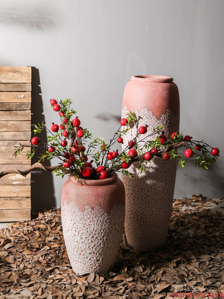 New Chinese style big be born between sitting room model creative ceramic vase dry flower arranging flowers adornment mall ambry furnishing articles