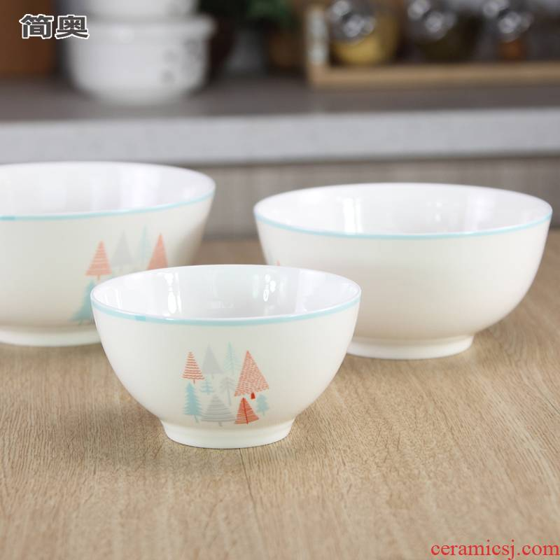 Use of creative move bowls of household ceramic bowls of noodles Bowl of soup Bowl, lovely northern tableware ipads European big Bowl