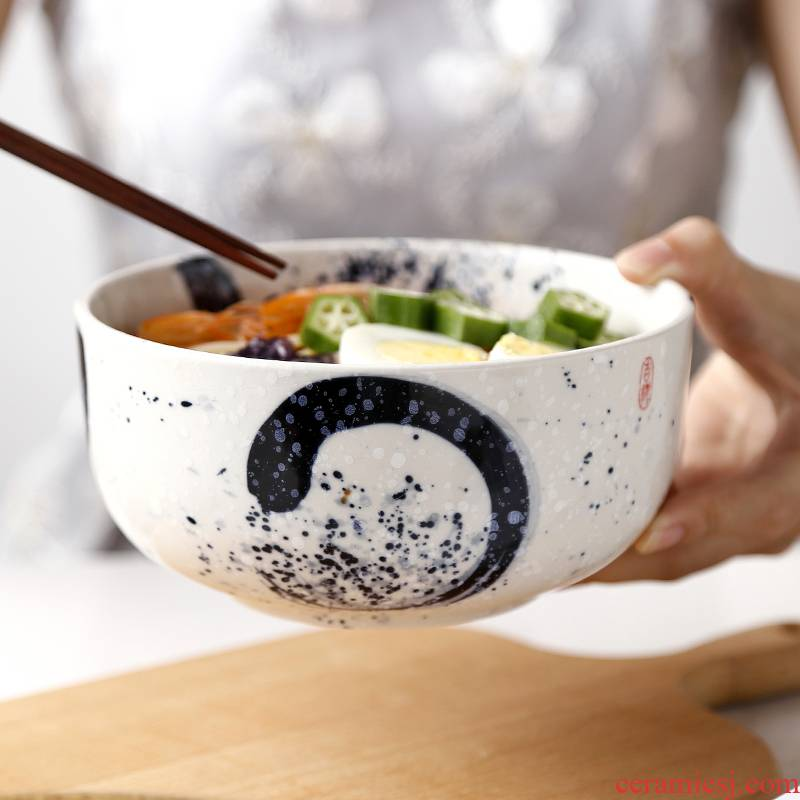 Tao soft Japanese household large bowl of individual creative tableware and ceramic bowl bowl straight rainbow such as bowl bowl