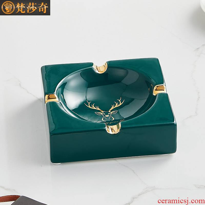 Ashtray creative move trend in northern wind I and contracted sitting room home decoration ceramic tea table of Chinese style furnishing articles