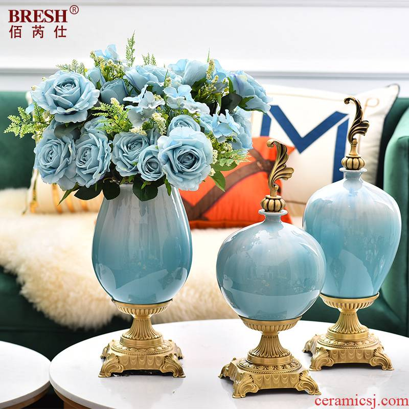 Light much creative modern ceramic vases, flower arranging I and contracted sitting room porch TV ark of tea table furnishing articles