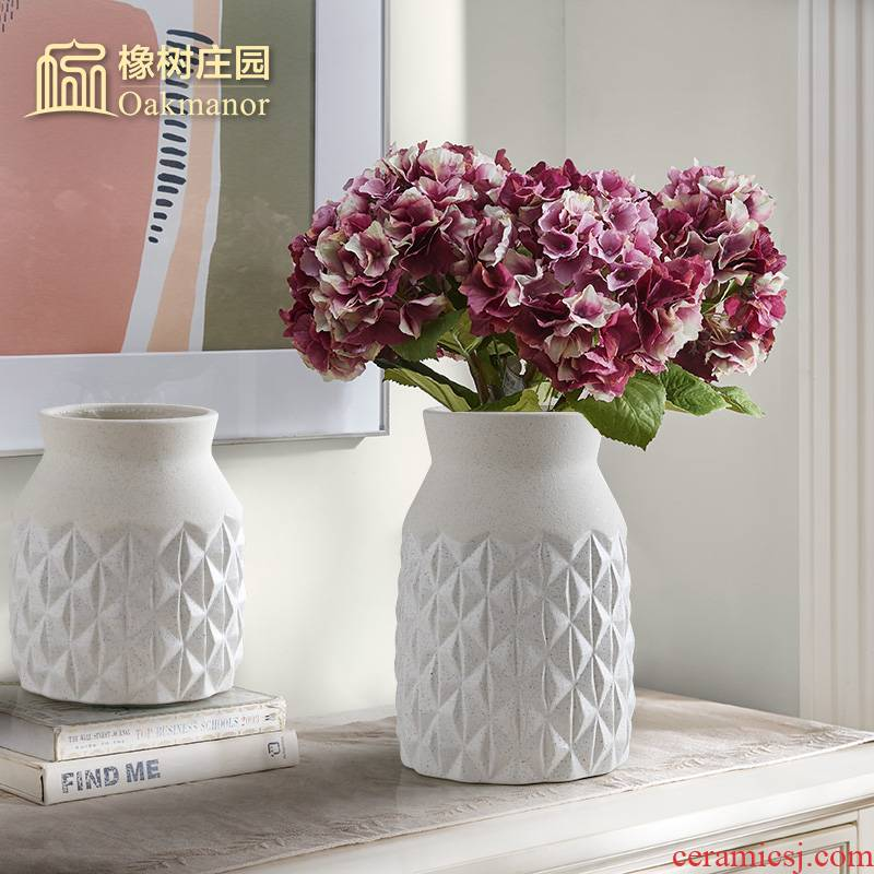 American retro pineapple ceramic dry flower vase Nordic home flowers flower arrangement contracted sitting room tea table decoration furnishing articles