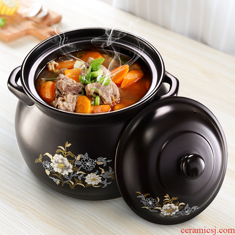 Large kitchens sand pot simmering saucepan household ceramics earth flame temperature to boil porridge crock pot soup pot