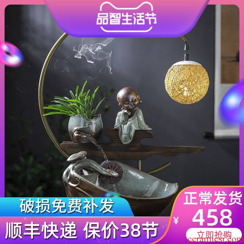 Chinese creative ceramic plutus humidifier water furnishing articles furnishing articles of zen household decoration indoor porch sitting room
